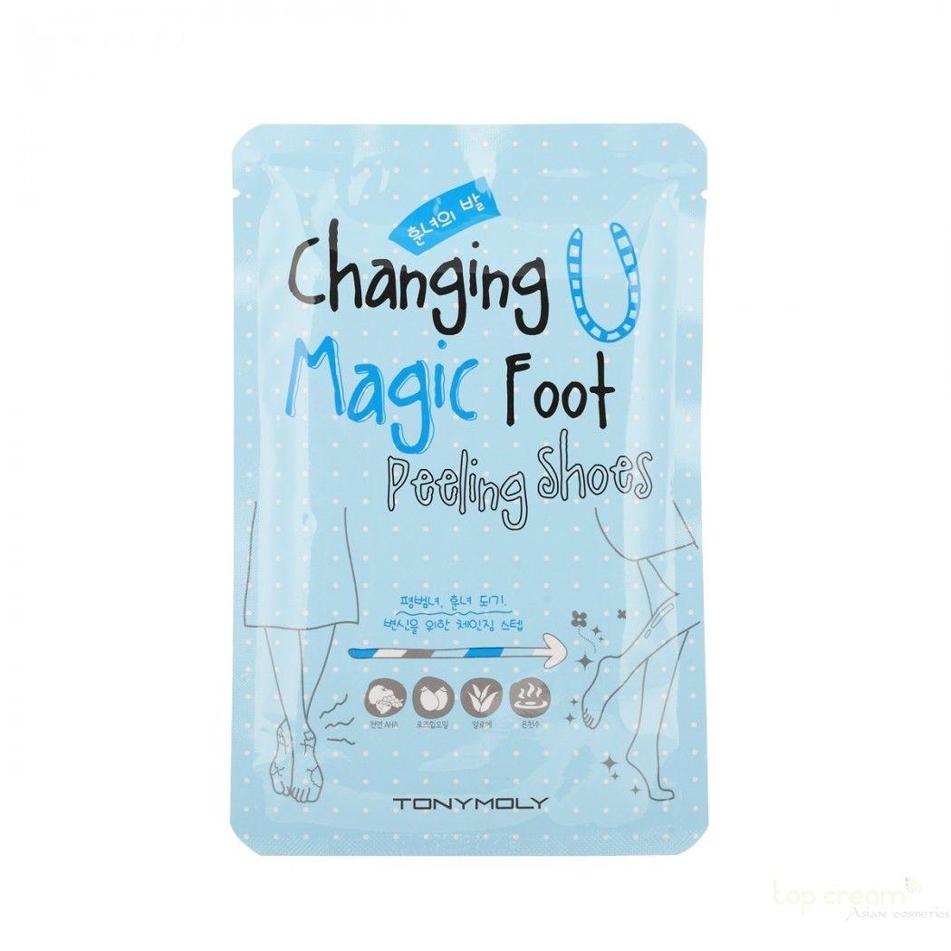 Носочки для пилинга ступней Tony Moly Changing U Magic Foot Peeling Shoes 25 мл (8806358574703)