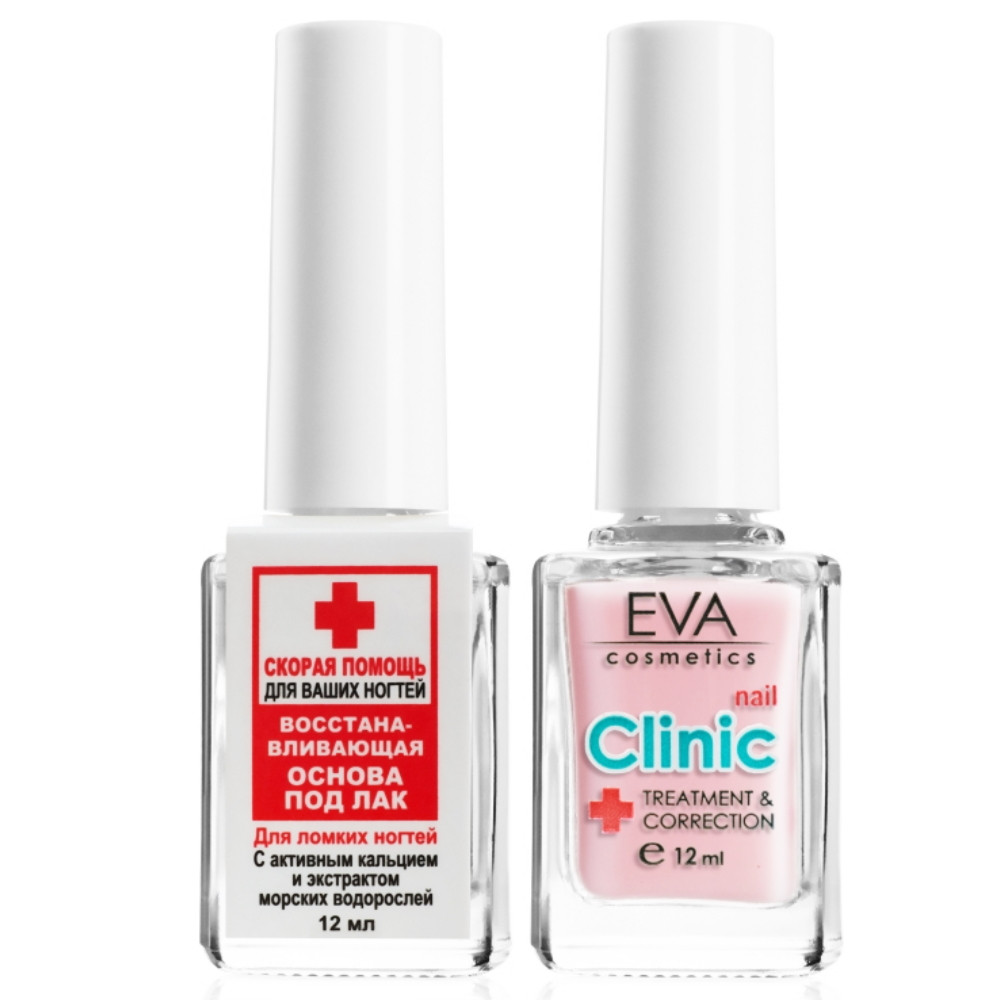 Восстанавливающее средство для ногтей с коллагеном и провитамином В5 Eva Cosmetics Nail Clinic 12 мл (1011900403)