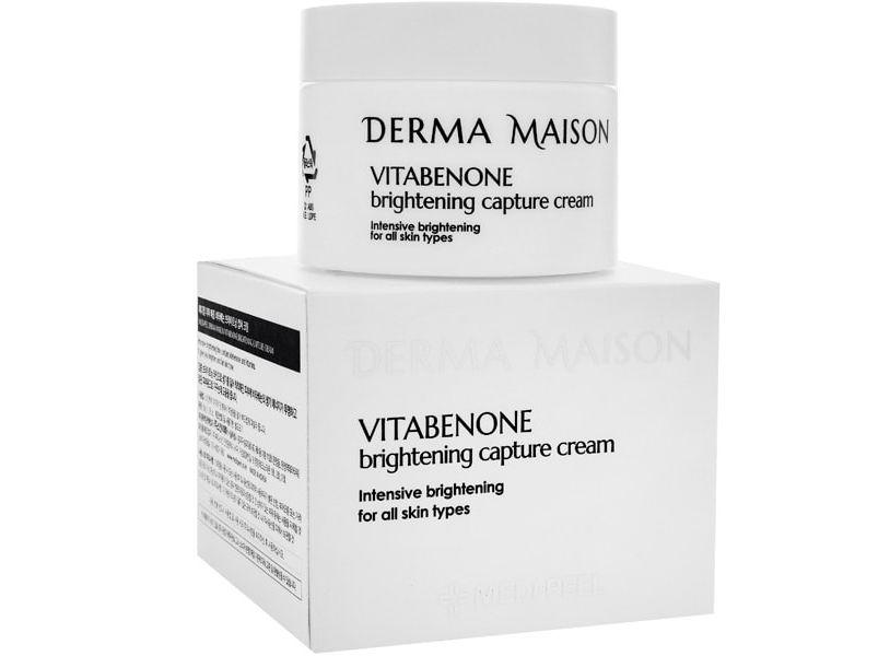 Осветляющий крем для лица с идебеноном Medi-Peel Derma Maison Vitabenone Brightning Capture Cream 50 мл (8809409344850)