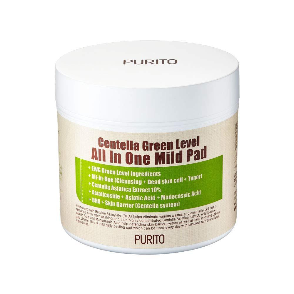 Пилинг-диски с центеллой PURITO Centella Green Level All In One Mild Pad (8809563100118)