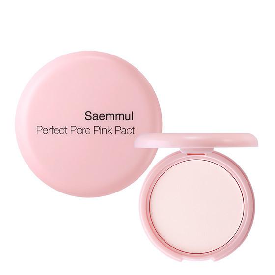 Розовая компактная пудра для чувствительной кожи The Saem Saemmul Perfect Pore Pink Pact 11 г (8806164150771)