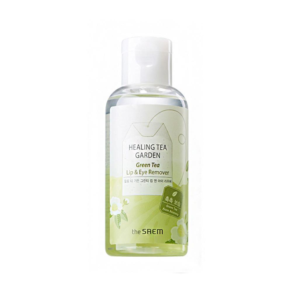 Средство для снятия макияжа с зеленым чаем The Saem Healing Tea Garden Green Tea Lip & Eye Remover 150 мл (8806164119105)