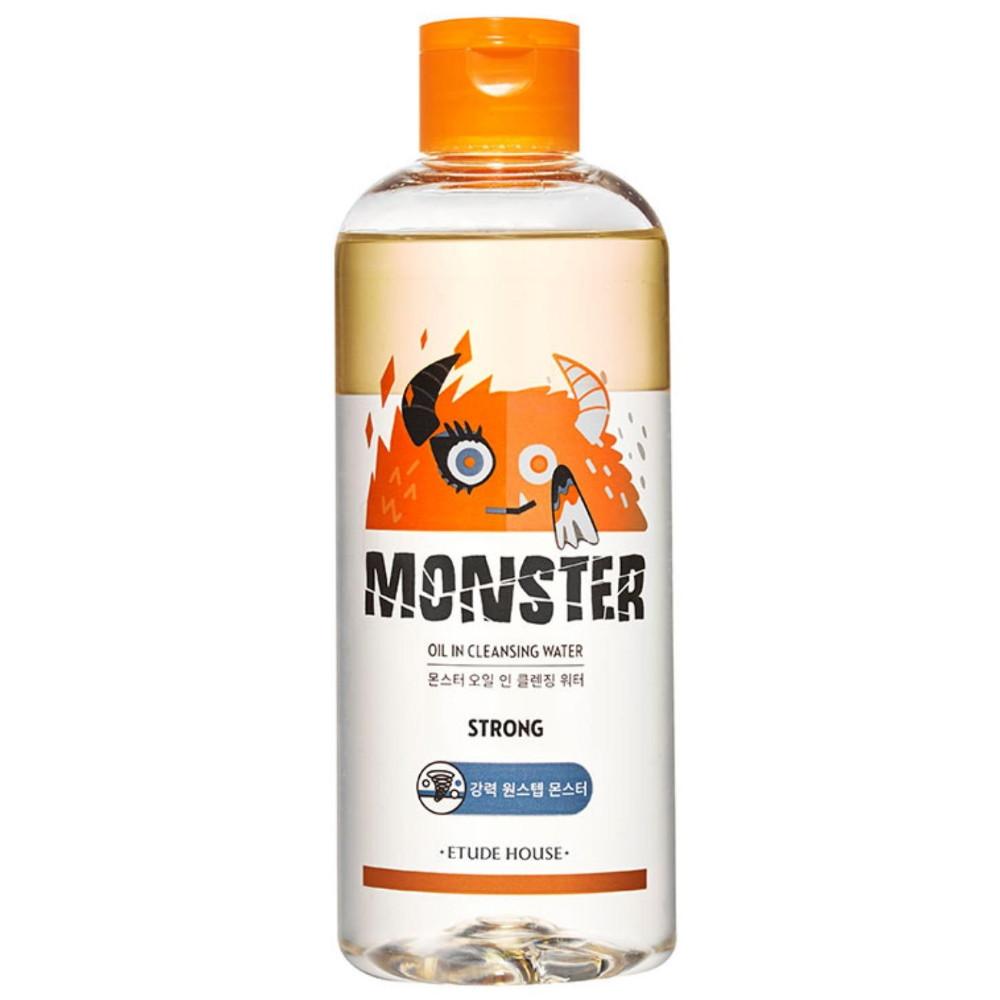 Мицеллярная вода для снятия стойкого макияжа Etude House Monster Oil In Micellar Cleansing Water 300 мл (8809140507897)