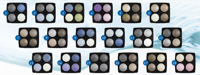 """Сверхустойчивые тени для век водостойкие Eva cosmetics """"Professional Waterproof"""" Палитра 01 (7012700111)"""