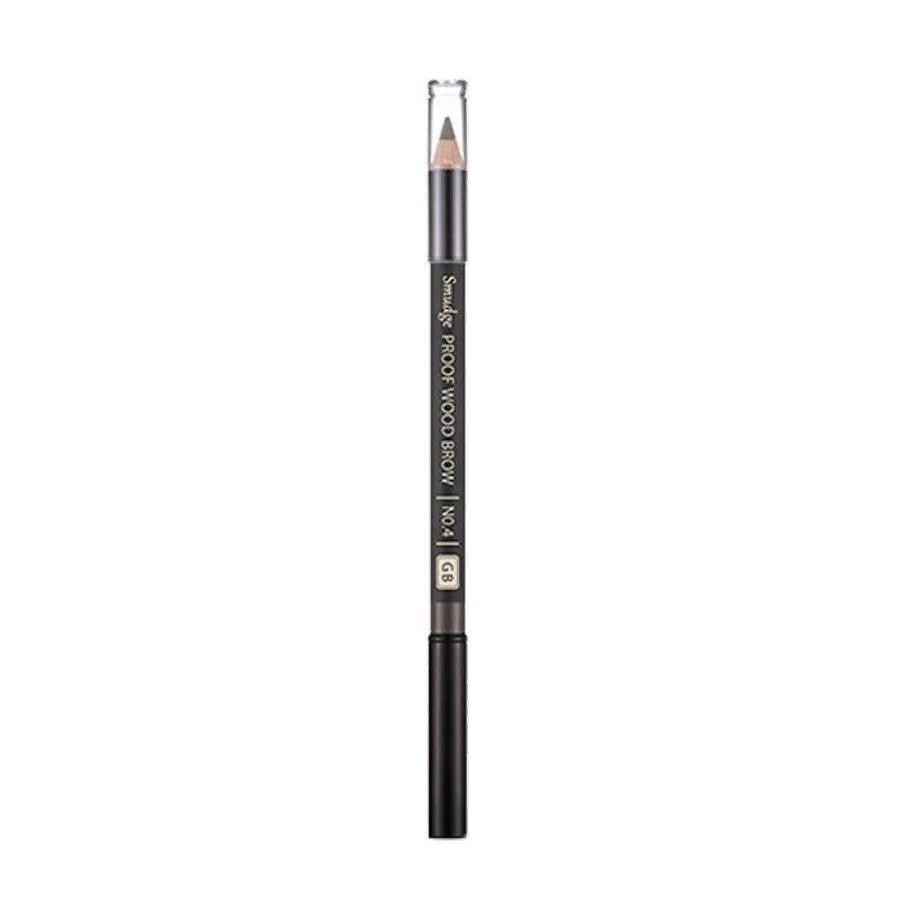 Контурный карандаш для бровей Missha Smudge Proof Wood Brow No.4 Gray Brown 0,3 г (8806185772617)