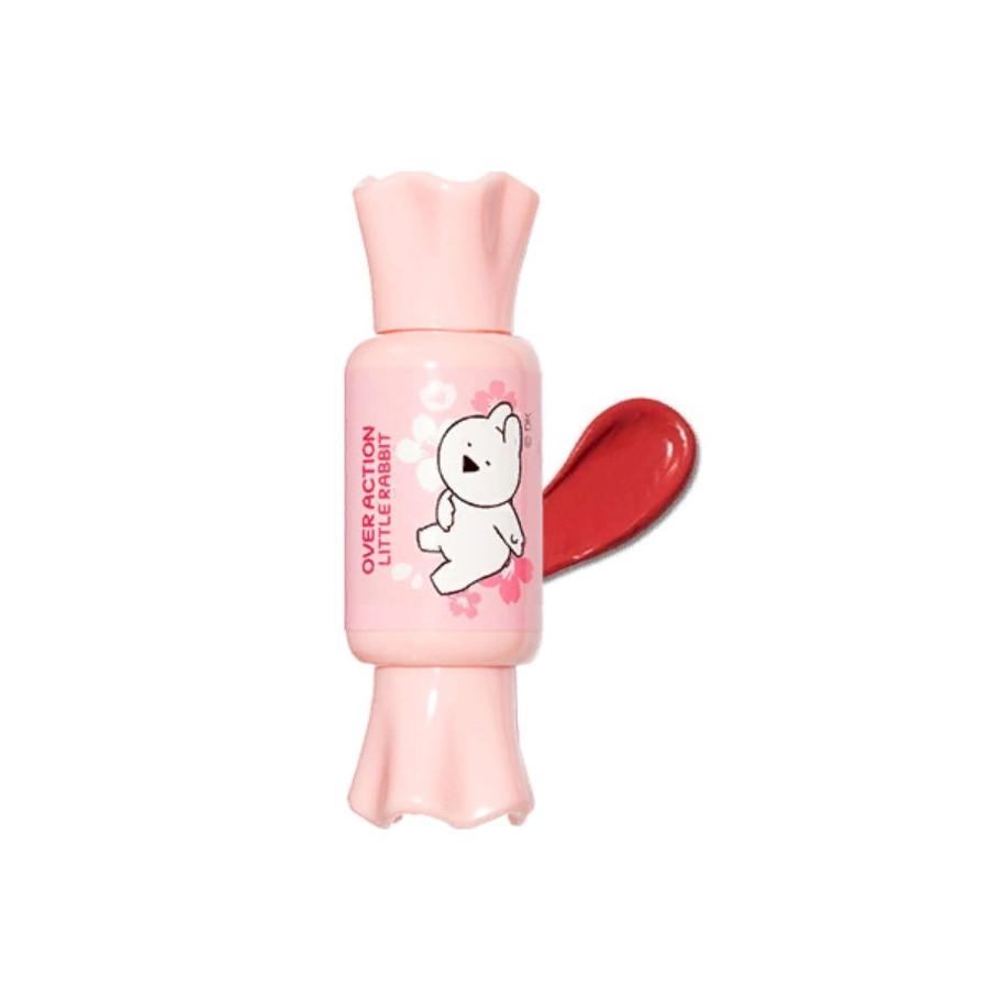 Тинт-мусс для губ The Saem Over Action Little Rabbit Saemmul Mousse Candy Tint - 16 Rose 8 г (8806164161494)