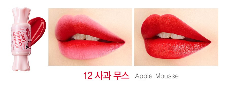 Тинт-мусс для губ конфетка The Saem Saemmul Mousse Candy Tint 12 Apple 8 г (8806164154717)