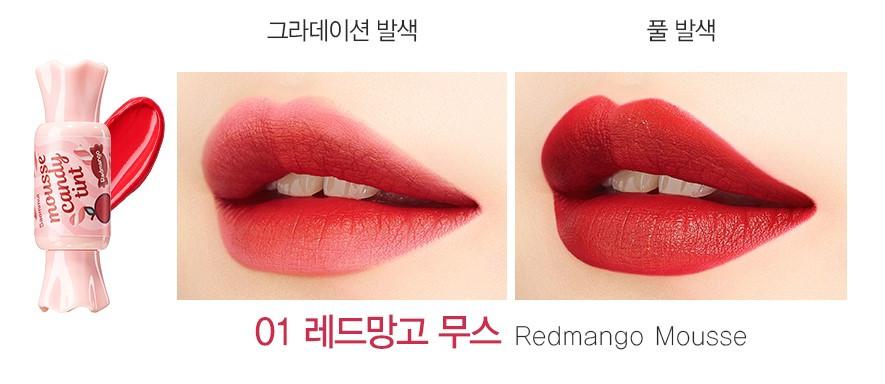 Тинт-мусс для губ конфетка The Saem Saemmul Mousse Candy Tint 01 Redmango 8 г (8806164146408)