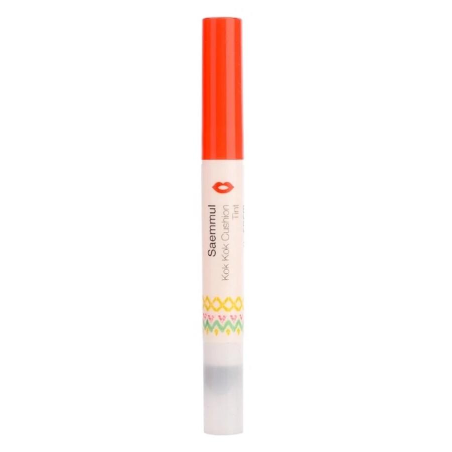 Тинт-кушон для губ The Saem Saemmul Kok Kok Cushion Tint - OR01 Happy Orange 1,1 г (8806164123850)