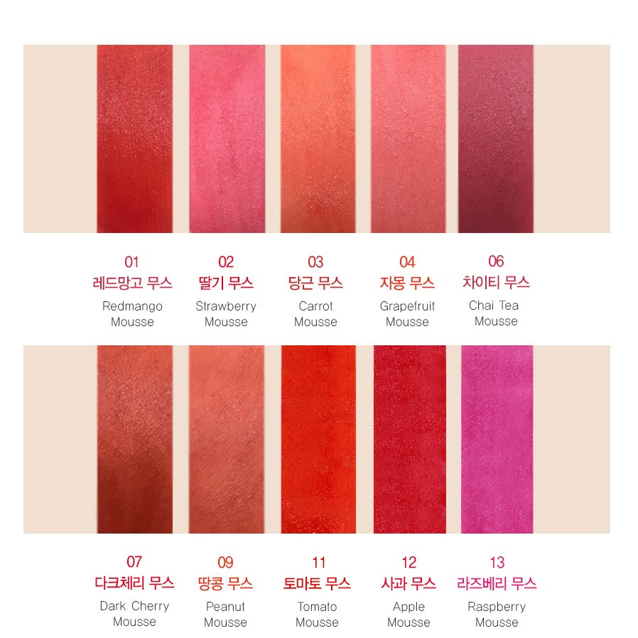 Тинт-мусс для губ конфетка The Saem Saemmul Mousse Candy Tint 13 Raspberry 8 г (8806164154724)