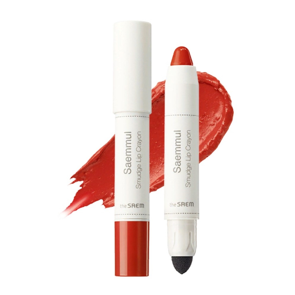 Помада-карандаш для губ The Saem Saemmul Smudge Lip Crayon - OR02 3,5 г (8806164135440)