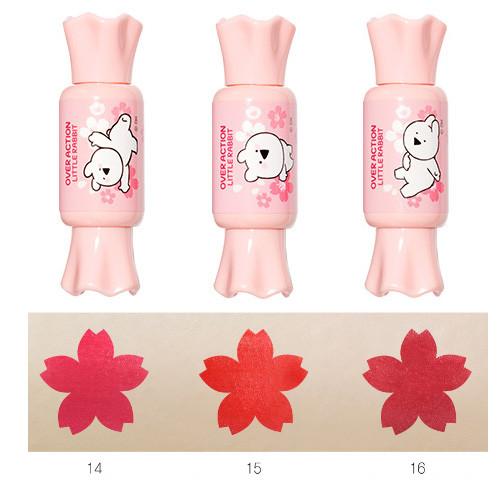 Тинт-мусс для губ The Saem Over Action Little Rabbit Saemmul Mousse Candy Tint - 14 Pink 8 г (8806164161470)