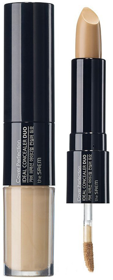 Консилер два в одном The Saem Cover Perfection Ideal Concealer Duo - 01 Clear Beige 4.2г+4.5г (8806164129159)