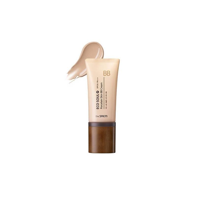 Маскирующий ВВ крем с эффектом фарфоровой кожи The Saem Eco Soul Porcelain Skin BB Cream SPF30 PA+++ - 01 (8806164134962)