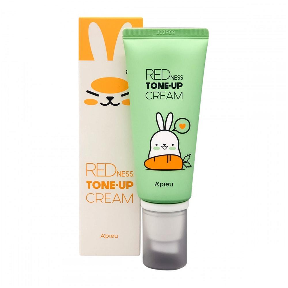 Выравнивающая крем-база для лица от покраснений A'pieu Redness Tone up Cream Red Carrot 65 г (8809581471320)