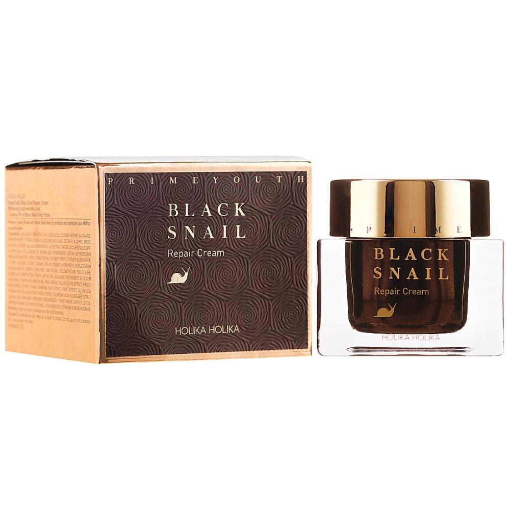 Крем для лица с муцином черной улитки Holika Holika Prime Youth Black Snail Repair Cream 50 мл (8806334358532)