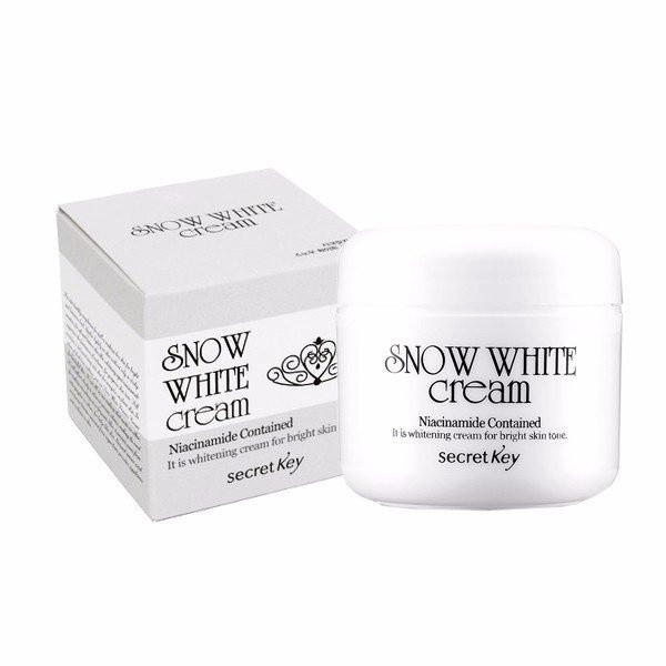 Крем для лица на пептидах молока с отбеливающим эффектом Secret Key Snow White Cream 50 мл (8809305992360)