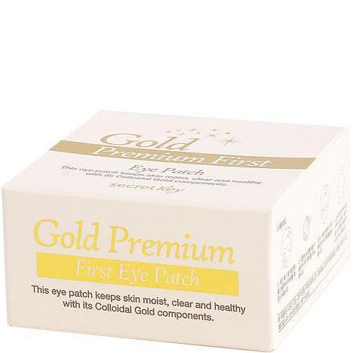 Гидрогелевые патчи для зоны глаз с коллоидным золотом Secret Key Gold Premium First Eye Patch 60 шт (8809305999192)