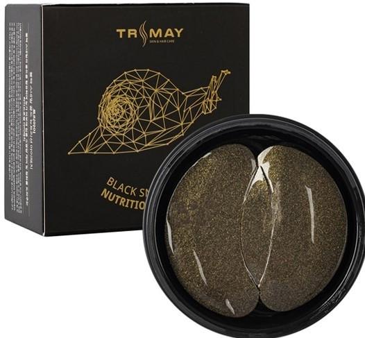 Гидрогелевые патчи под глаза с муцином черной улитки Trimay Black Snail Gold Nutrition Eye Patch 60 шт (8809706860152)