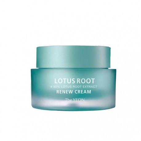 Обновляющий крем для лица с лотосом The Yeon Lotus Root Renew Cream 50 мл (8809398633638)