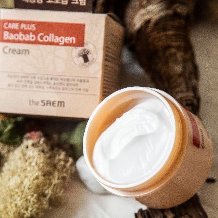 Крем для лица коллагеновый The Saem Care Plus Baobab Collagen Cream 100 мл (8806164125731)