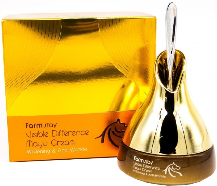 Крем для лица на основе лошадиного масла Farmstay Visible Difference Mayu Cream 50 мл (8809469771993)