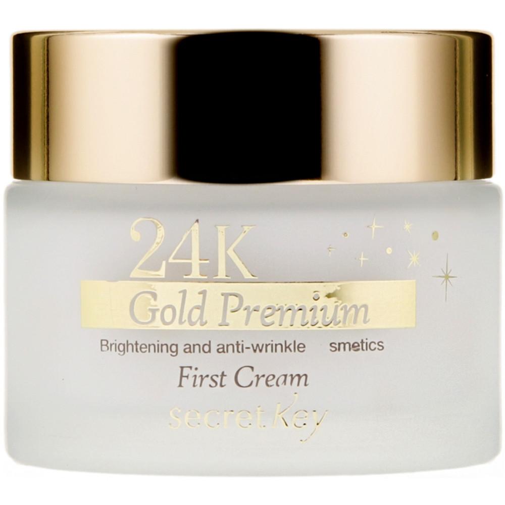 Крем для лица премиум-класса с золотом Secret Key 24K Gold Premium First Cream 50 мл (8809305994906)