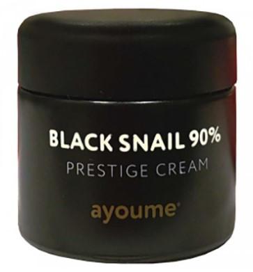 Многофункциональный крем для лица смуцином черной улитки (90%) Ayoume Black Snail Prestige Cream 70 мл (8809534251436)