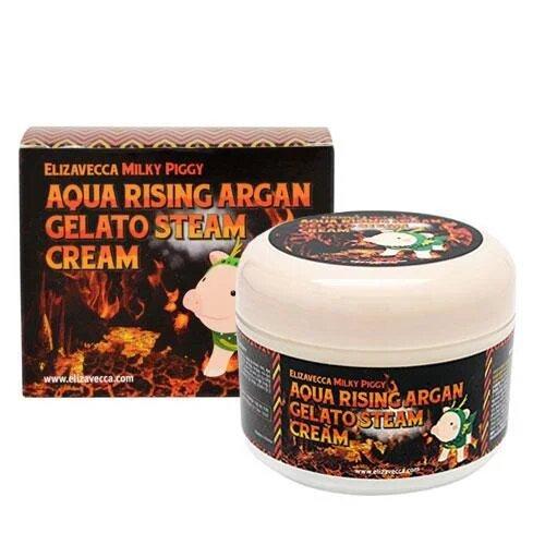 Питательный крем для лица с аргановым маслом Elizavecca Milky Piggy Aqua Rising Argan Gelato Steam Cream 100мл (8809418750147)
