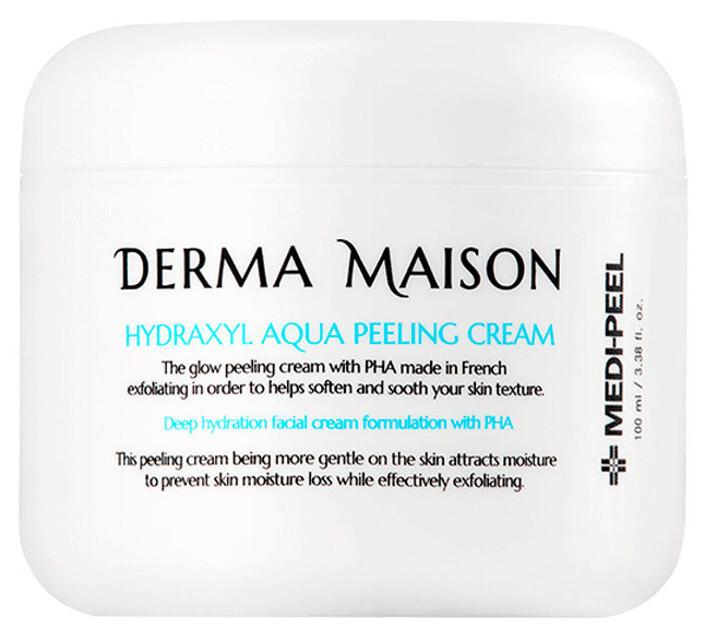Обновляющий пилинг-крем для лица с кислотами Medi-Peel Derma Maison Hydraxyl Aqua Peeling Cream 100 мл (8809409346243)
