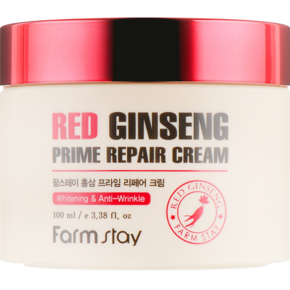 Восстанавливающий крем для лица с экстрактом красного женьшеня Farmstay Red Ginseng Prime Repair Cream 100 мл (8809480772139)