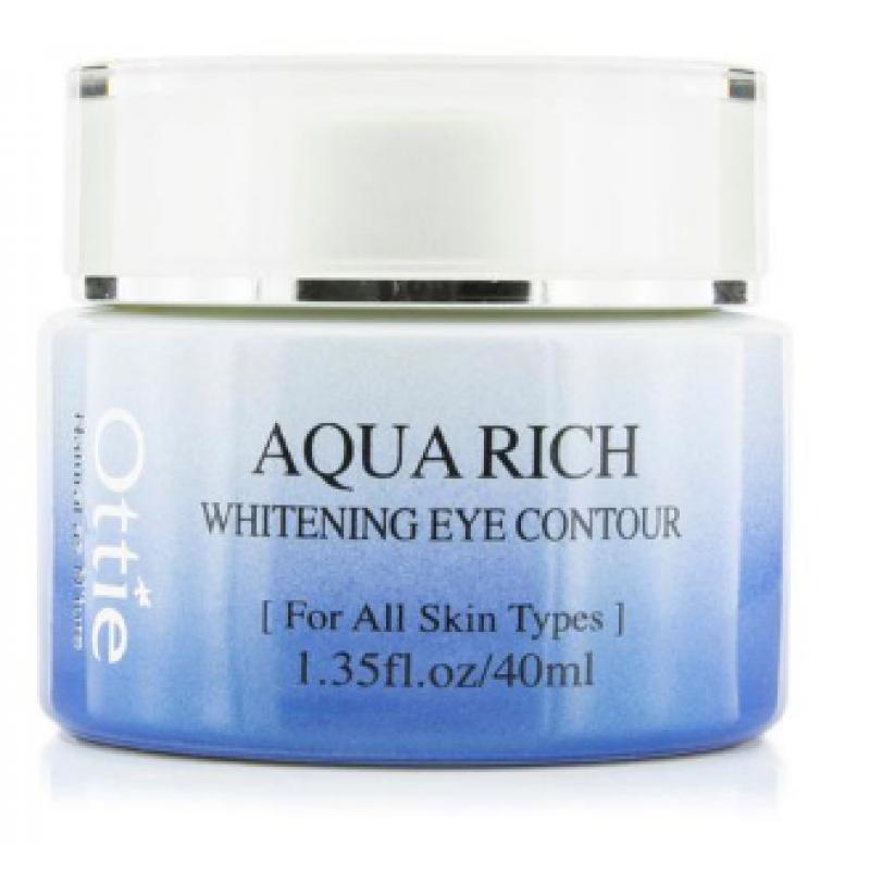 Отбеливающий крем для глаз с талой водой Ottie Aqua Rich Whitening Eye Contour 40 мл (8809082732210)