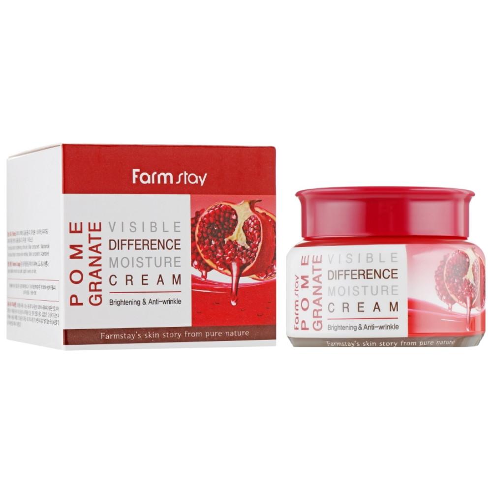 Увлажняющий крем для лица с экстрактом граната Farmstay Pomegranate Visible Difference Moisture Cream 100 мл (8809430538990)