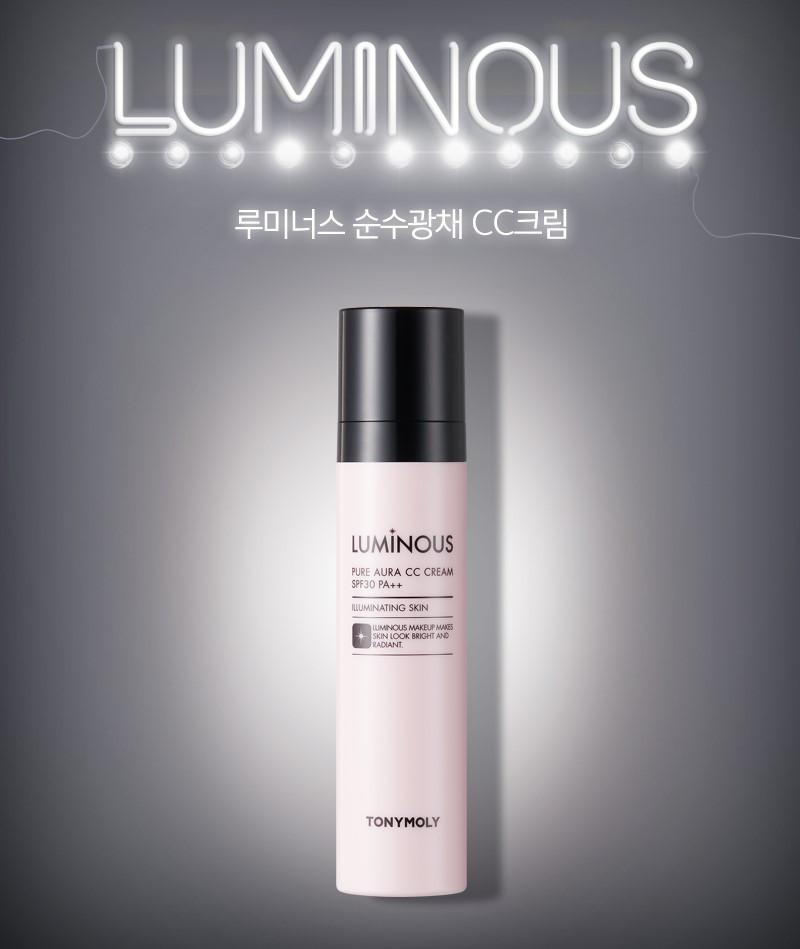 Увлажняющий СС крем для лица Tony Moly Luminous Pure Aura CC Cream SPF30/PA++ 50 мл (8806194006215)