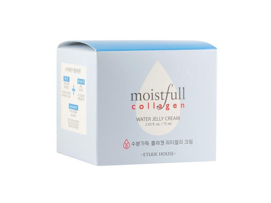 Гель-крем для лица от морщин с морским коллагеном Etude House Moistfull Collagen Water Jelly Cream 75 мл (8806199436284)