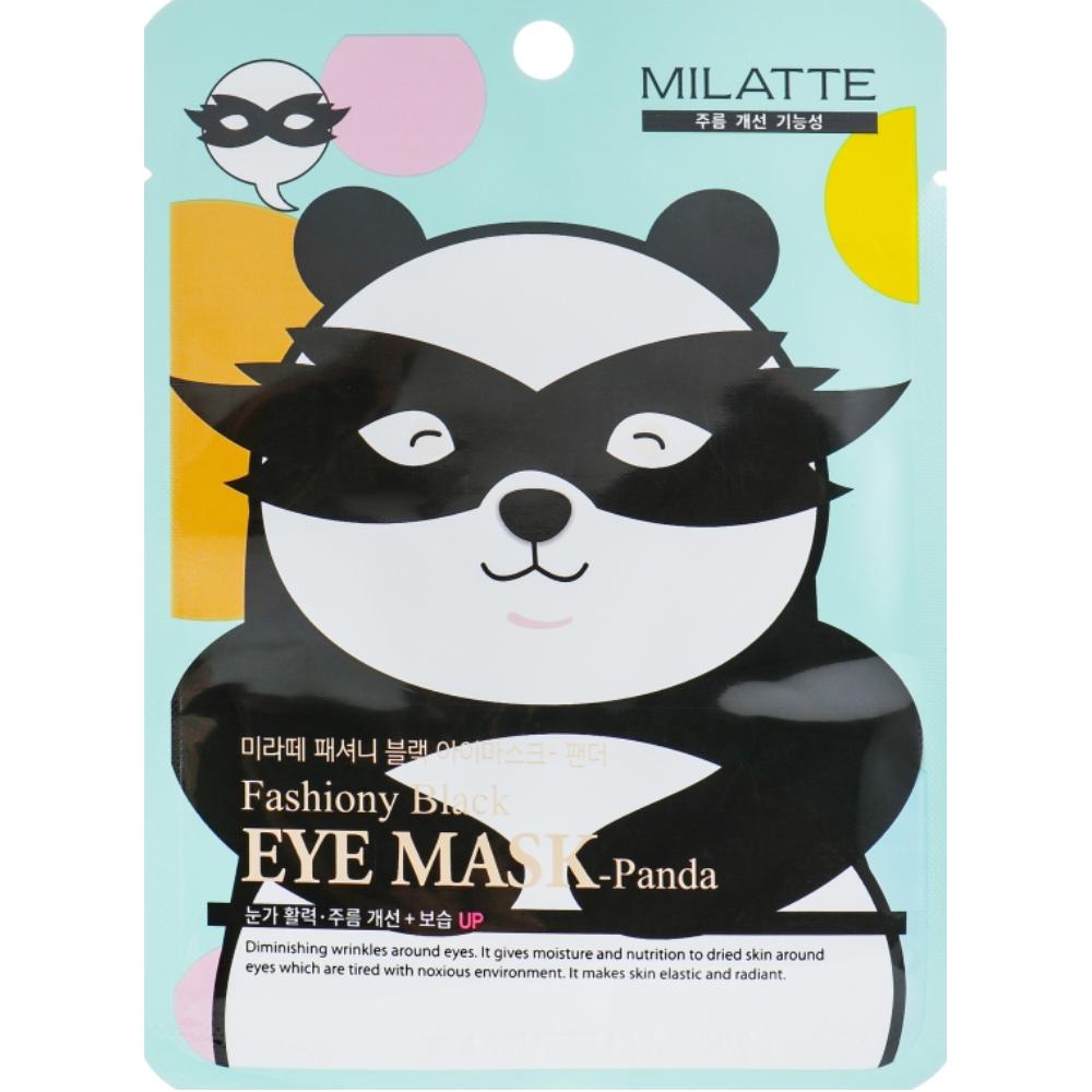 Осветляющая маска от морщин для кожи вокруг глаз Milatte Fashiony Black Eye Mask Panda 10 мл (8809535260246)