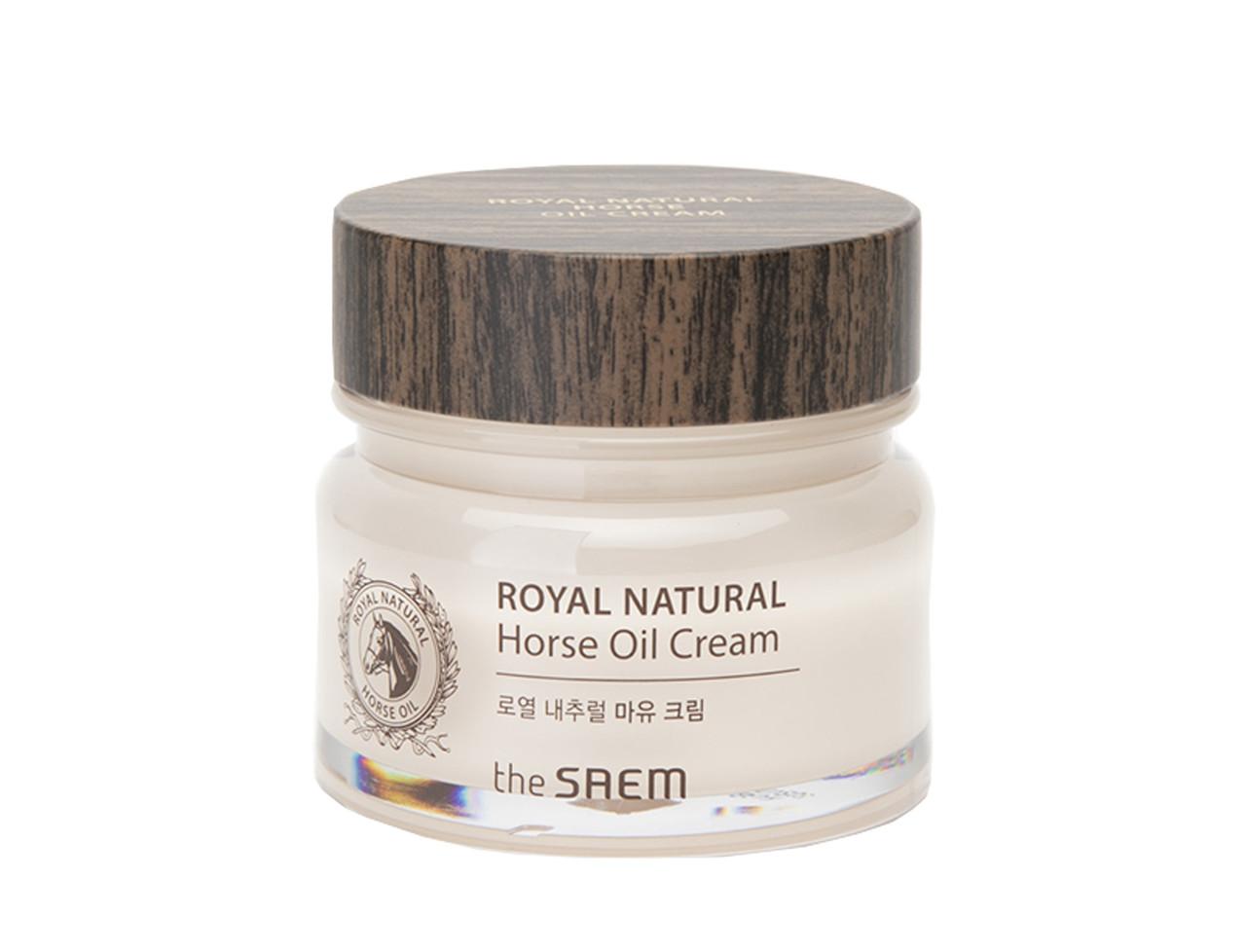 Питательный крем для лица с конским жиром и экстрактом трюфеля The Saem Royal Natural Horse Oil Cream 80 мл (8806164139233)
