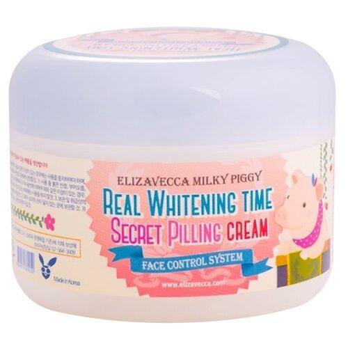Осветляющий пилинг-крем для лица Elizavecca Milky Piggy Real Whitening Time Secret Pilling Cream 100 мл (8809071369250)