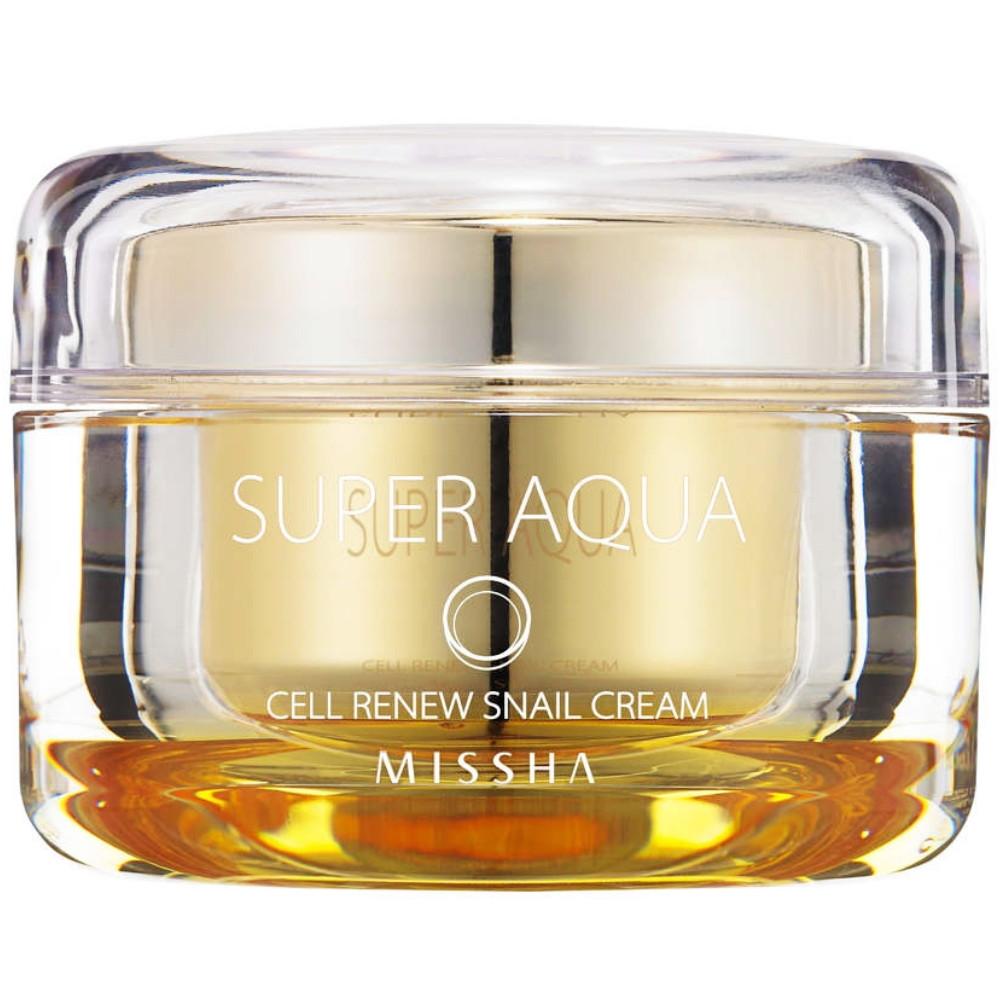 Увлажняющий крем для лица с экстрактом слизи улитки Missha Surer Aqua Cell Renew Snail Cream 52 мл (8809530039953)