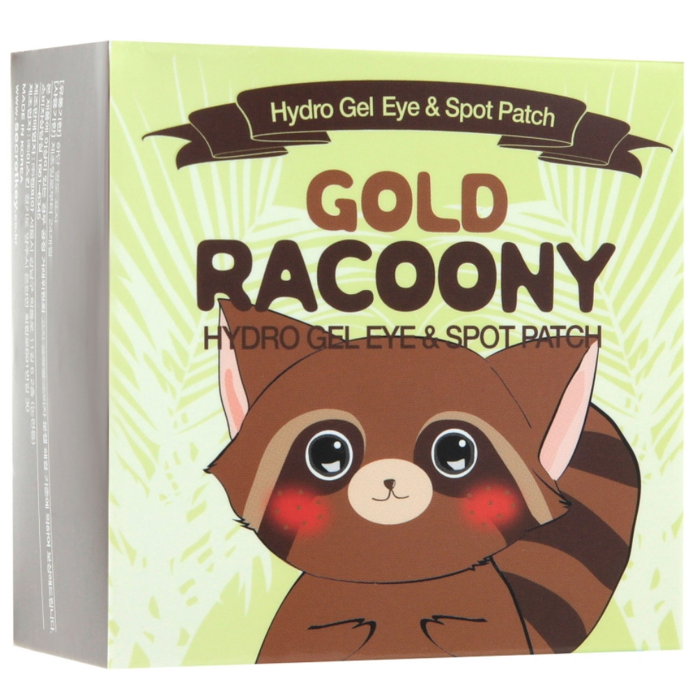 Гидрогелевые патчи под глаза с золотом Secret Key Gold Racoony Hydrogel Eye Spot Patch 90 шт (8809305999215)