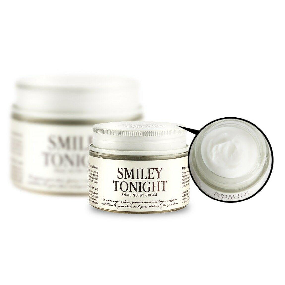 Питательный крем для лица с муцином черной улитки Graymelin Smiley Tonight Snail Nutry Cream 50 мл (8809071360332)