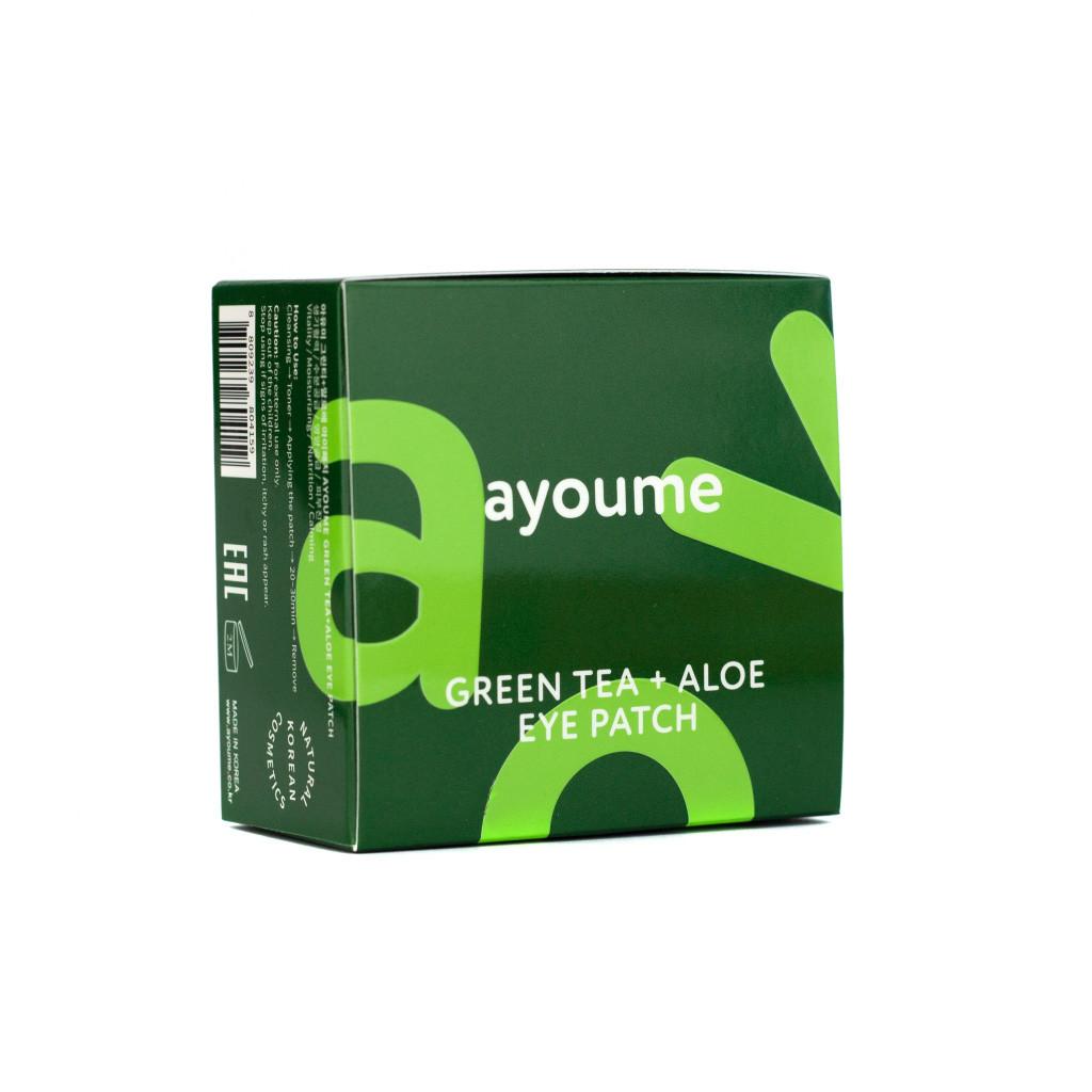 Увлажняющие патчи против отечности век Ayoume Green Tea + Aloe Eye Patch 60 шт (8809239804159)