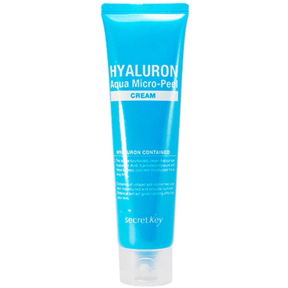 Увлажняющий крем-гель для лица с гиалуроновой кислотой Secret Key Hyaluron Aqua Micro-Peel Cream 70 мл (8809305996719)