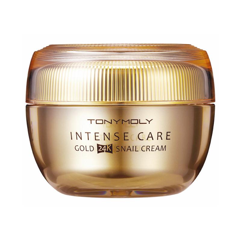 Улиточный крем для лица с 24-каратным золотом Tony Moly Intense Care Gold 24K Snail Cream 45 мл (8806194023762)