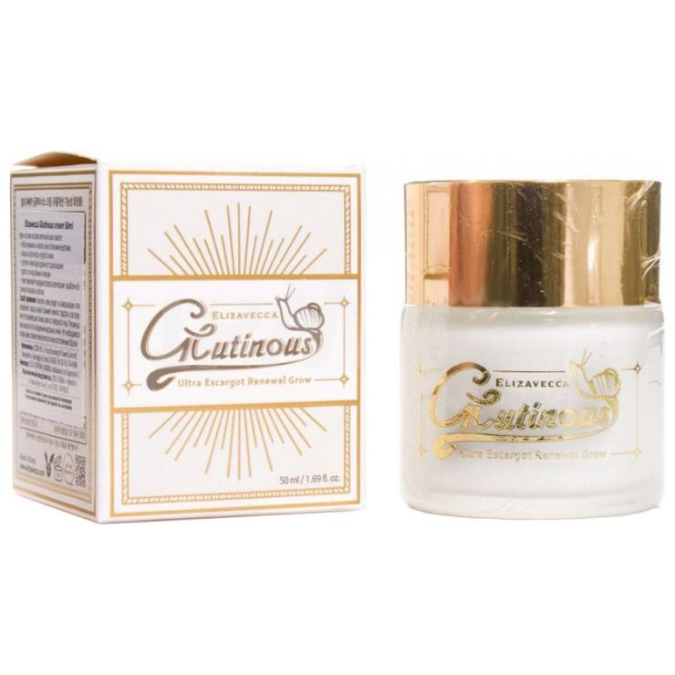 Крем для лица улиточный Elizavecca Glutinous Ultra Escargot Renewal Cream 50 мл (8809418750475)