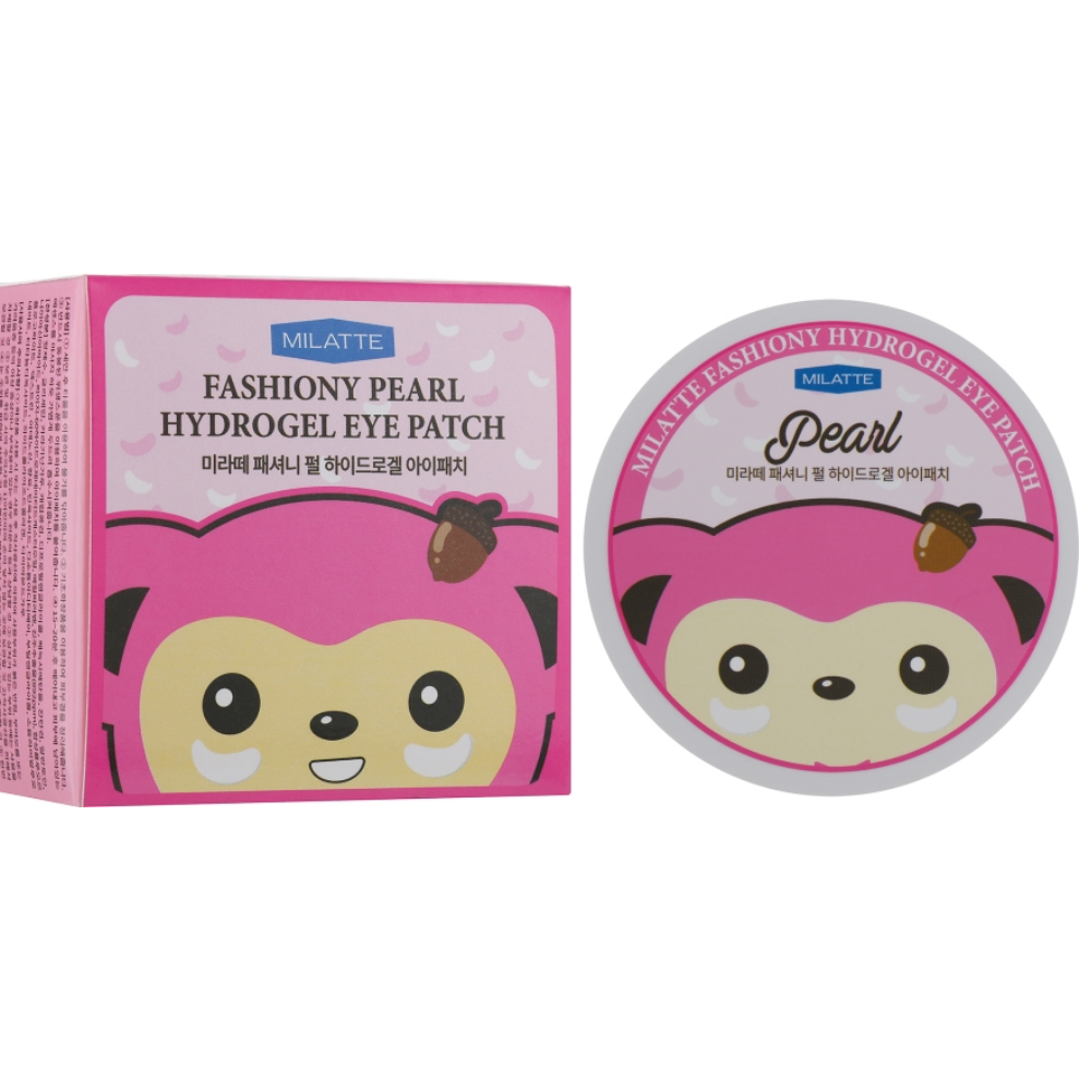 Гидрогелевые патчи под глаза с жемчугом Milatte Fashiony Pearl Hydrogel Eye Patch 60 шт (8809535260048)