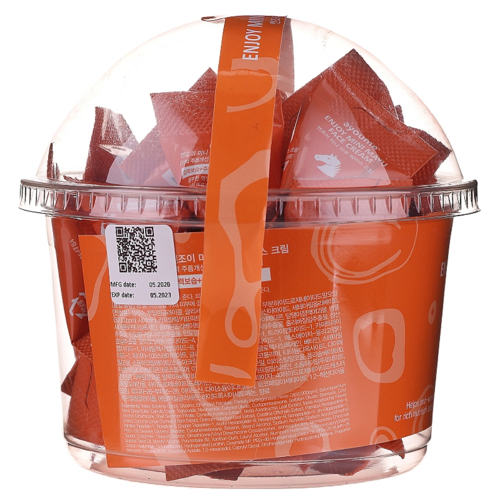 Набор кремов для лица с лошадиным маслом Ayoume Enjoy Mini Mayu Face Cream 3 г * 30 шт (8809534253263)