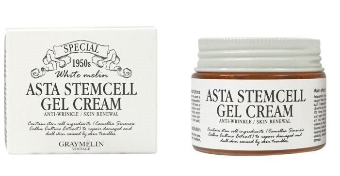 Антивозрастной гель-крем для лица со стволовыми клетками Graymelin Asta Stemcell Anti-Wrinkle Gel Cream 50 мл (8809321483507)