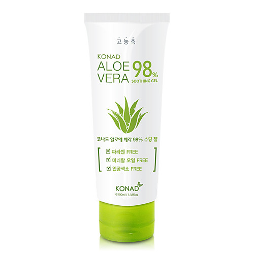 Успокаивающий гель для тела с алоэ вера Konad Aloe Vera 98% Soothing Gel 100 мл (8809109837454)