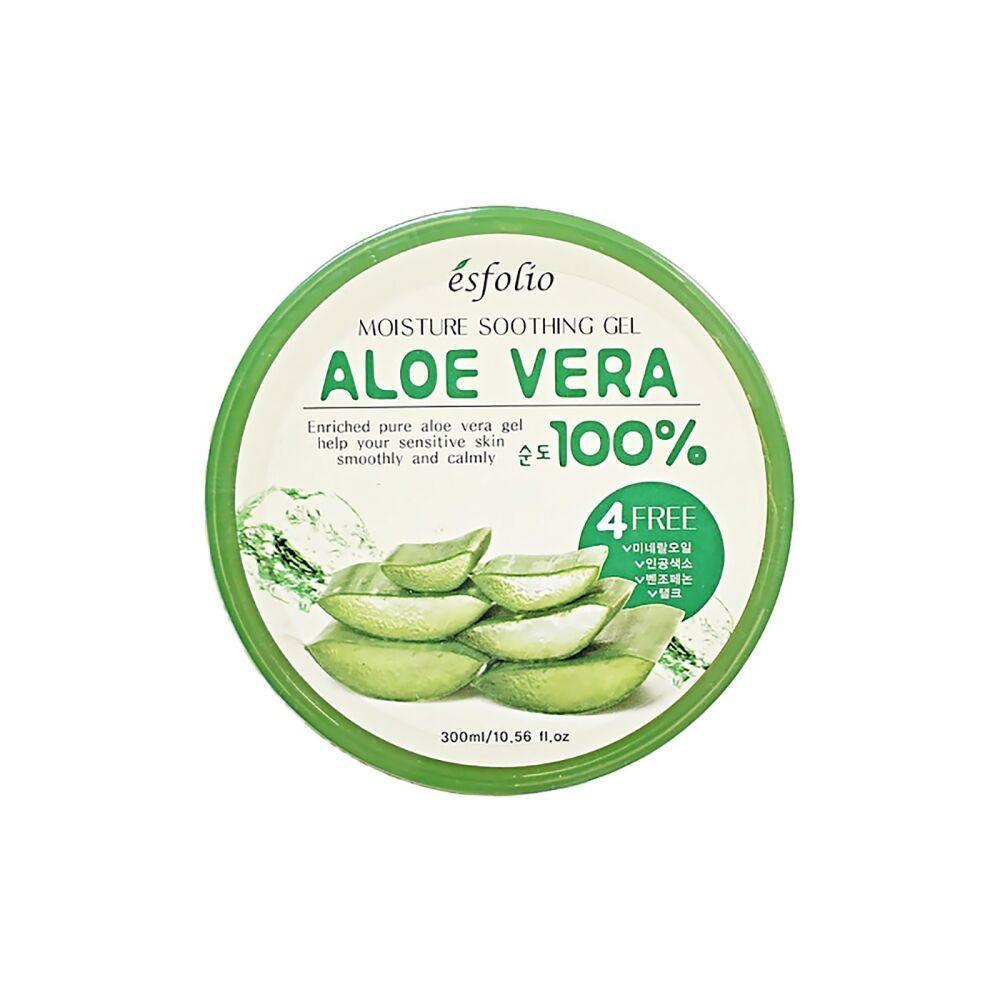 Увлажняющий крем-гель с алоэ для лица и тела Esfolio Moisture Soothing Gel Aloe Vera 100% Purity 300 мл (8809386880211)
